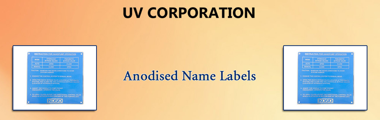 Anodised Name Labels