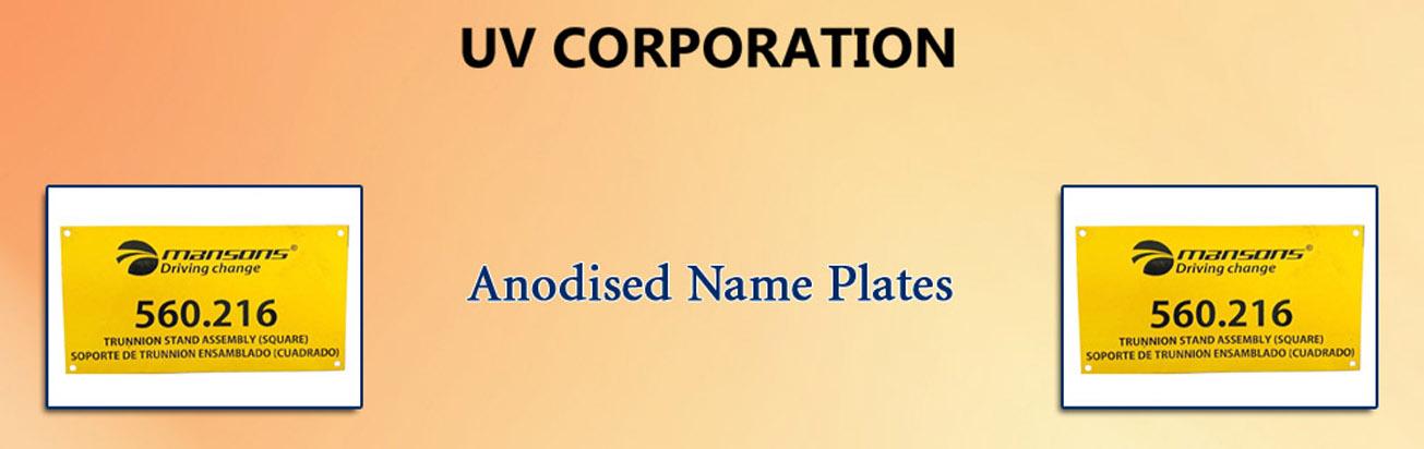 Anodised Name Plates