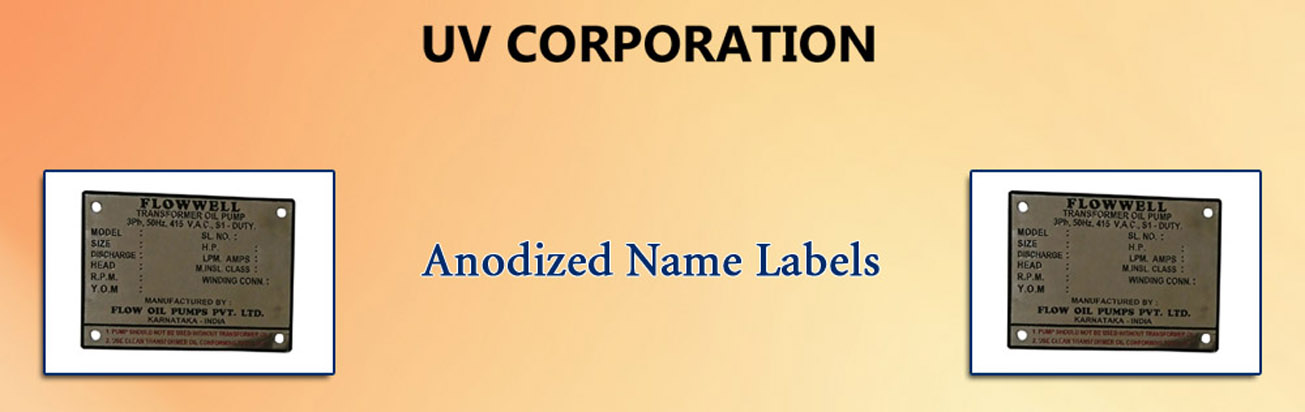 Anodized Name Labels
