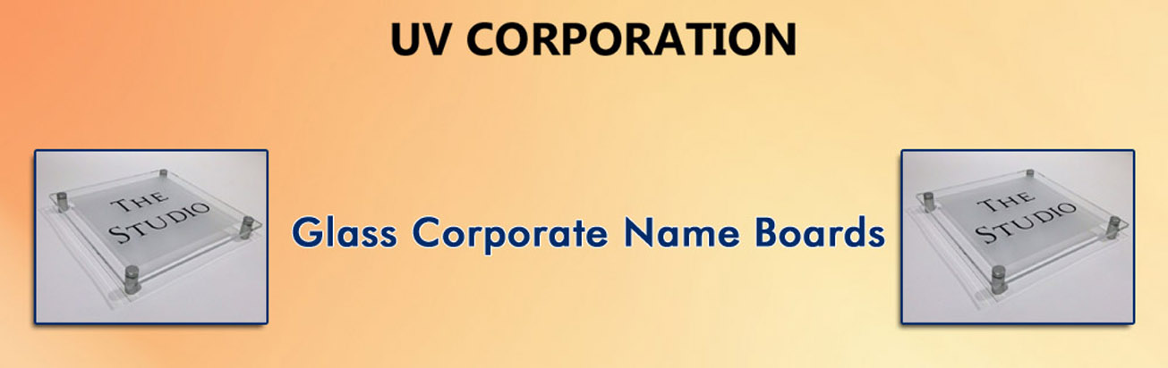 Glass Corporate Name Boards