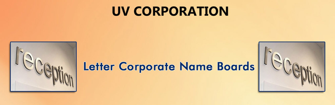 Letter Corporate Name Boards