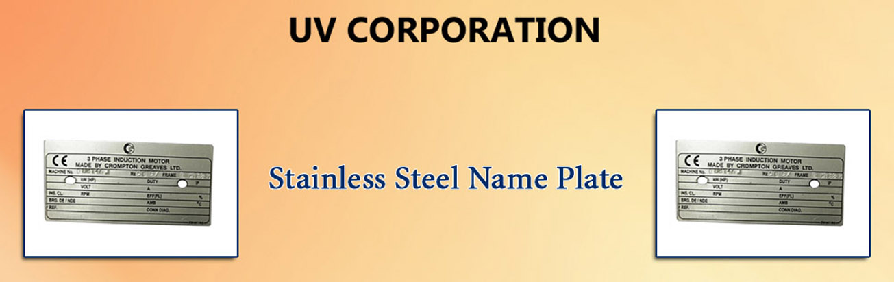 Stainless Steel Name Plate, Stainless Steel Name Plate Manufacturers
